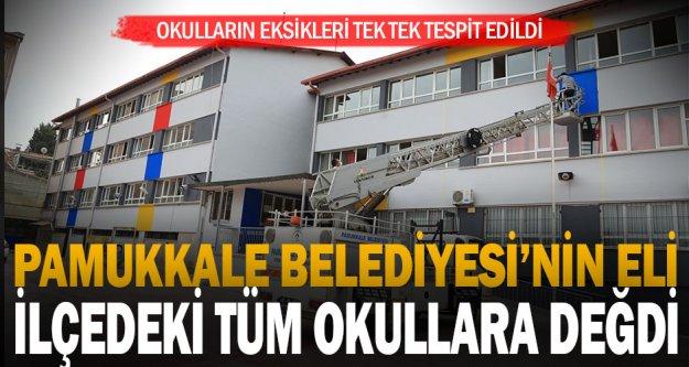 Pamukkale Belediyesinin eli ilçedeki tüm okullara değdi