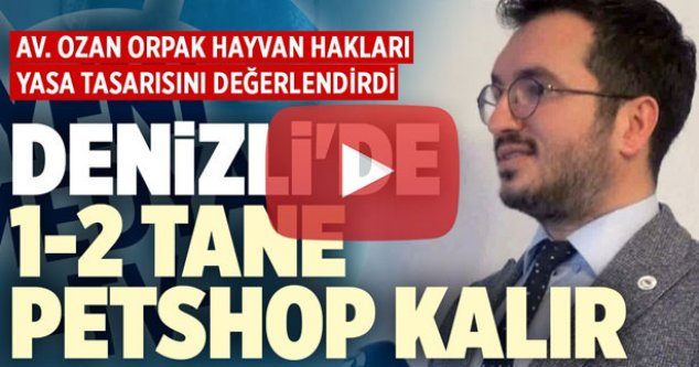 Av. Ozan Orpak hayvan hakları yasa tasarısını anlattı