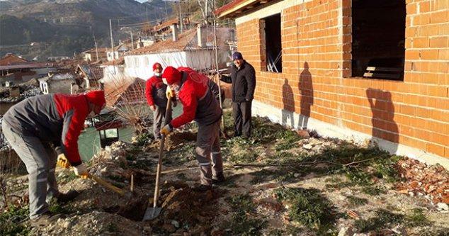 Buldan Belediyesi'nin ağaçlandırma çalışmaları devam ediyor