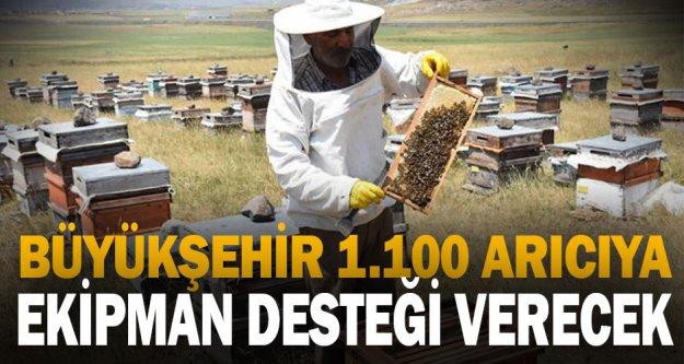 Büyükşehir 1.100 arıcıya ekipman desteği verecek