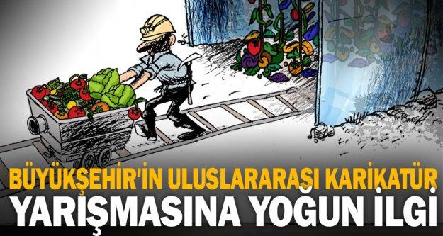 Büyükşehir'in uluslararası karikatür yarışmasına yoğun ilgi