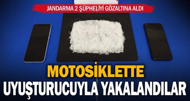 Denizli'de 2 şüpheli motosiklette sentetik uyuşturucuyla yakalandı