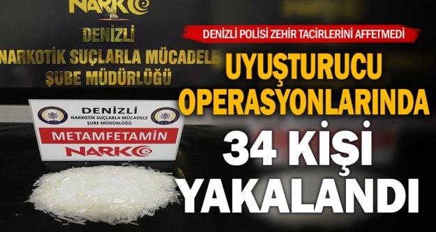 Denizli'de uyuşturucuya 12 tutuklama