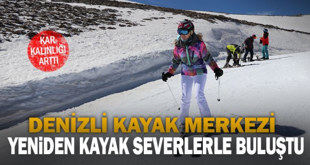 Denizli Kayak Merkezi, yeniden kayak severlerle buluştu