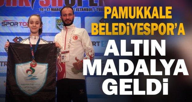 Pamukkale Belediyespor'a altın madalya geldi