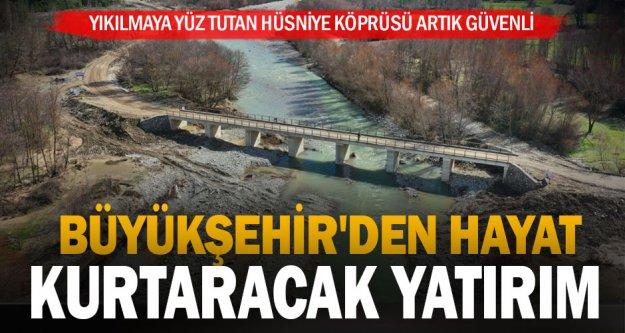 Yıkılmaya yüz tutan Hüsniye Köprüsü artık güvenli