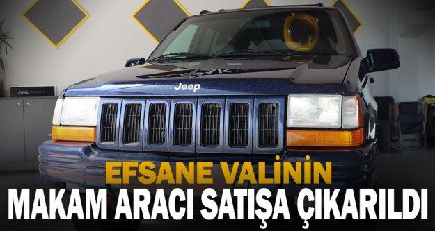 Merhum Vali Recep Yazıcıoğlu'nun makam aracı olarak kullandığı cip satışa çıkartıldı