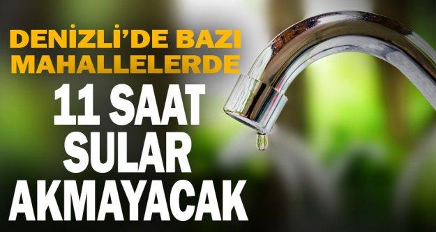Muhtelif mahallelerde su kesintisi