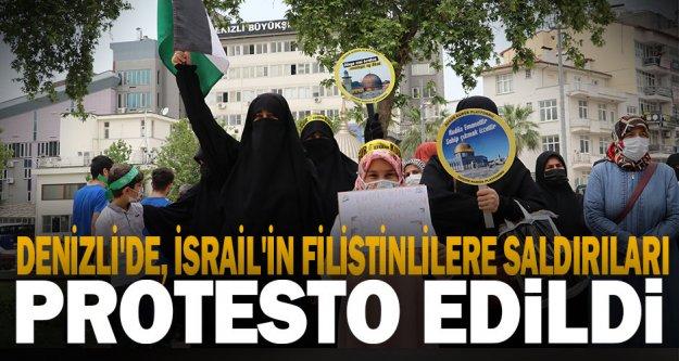 İsrail'in Filistinlilere yönelik saldırılarıDenizli'de protesto edildi