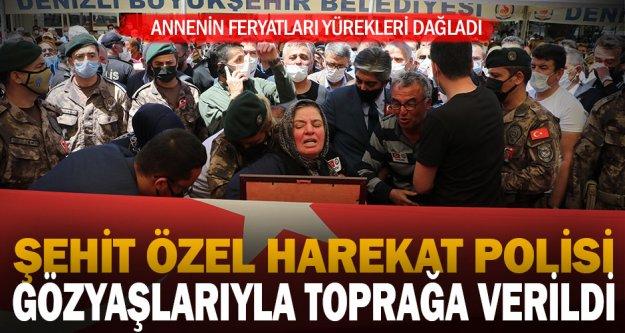 Şehit özel harekat polisi Veli Kabalay Denizli'de toprağa verildi