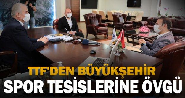 TTF'den Büyükşehir spor tesislerine övgü