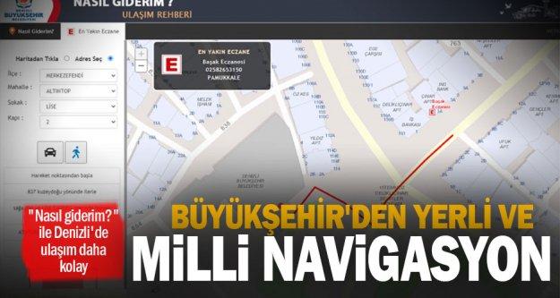 Büyükşehir'den yerli ve milli navigasyon