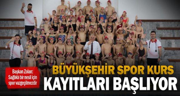 Büyükşehir spor kurs kayıtları başlıyor