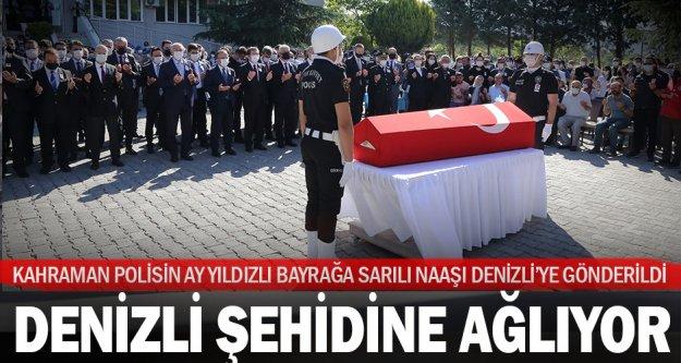 Denizlili kahraman şehit polis için Muğla emniyetinde tören düzenlendi