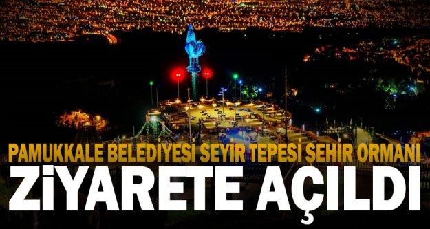 Pamukkale Belediyesi Seyir Tepesi Şehir Ormanı açıldı