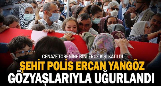 Şehit polis memuru Ercan Yangöz'ün naaşı Denizli'de toprağa verildi