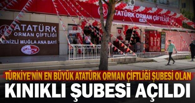 Türkiye'nin en büyük Atatürk Orman Çiftliği Şubesi olan Kınıklı Şubesi açıldı