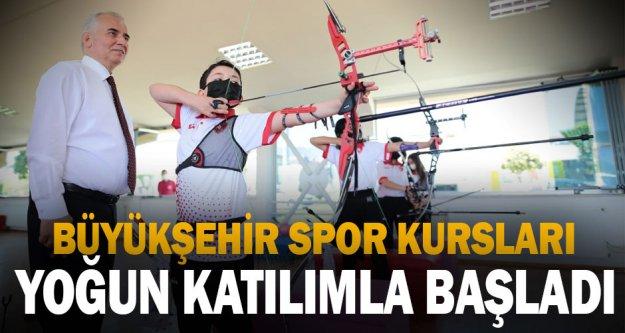 Büyükşehir spor kursları yoğun katılımla başladı