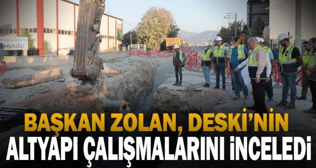 Başkan Zolan, altyapı çalışmalarını inceledi