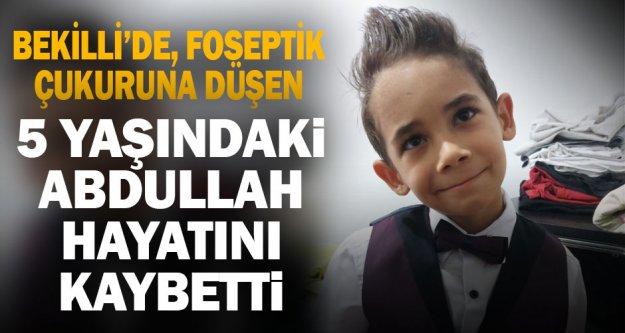 Bekilli'de foseptik çukuruna düşen 5 yaşındaki çocuk hayatını kaybetti