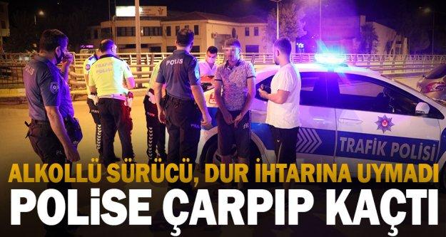 Denizli'de 'dur' ihtarına uymayarak polise çarpan sürücü yakalandı