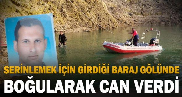 Serinlemek için girdiği baraj gölünde kaybolan kişinin cesedi bulundu