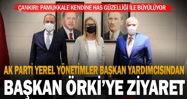 Ak Parti Yerel Yönetimler Başkan Yardımcısından, Başkan Örki'ye ziyaret