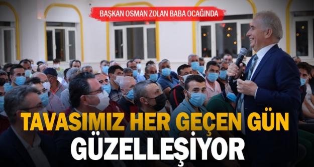 Başkan Osman Zolan baba ocağı Tavas'ta bir dizi ziyaret gerçekleştirdi