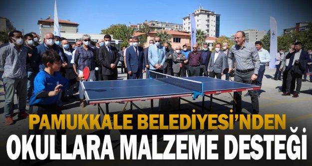 Pamukkale Belediyesi'nden okullara malzeme desteği