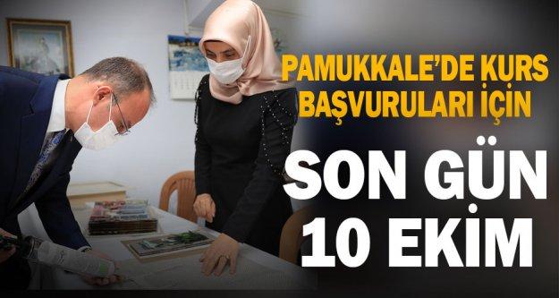 Pamukkale'de kurs başvuruları için son gün 10 Ekim