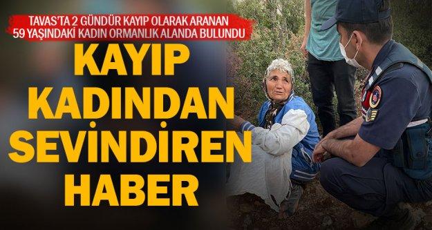 Tavas'ta iki gündür aranan kadın ormanda bulundu