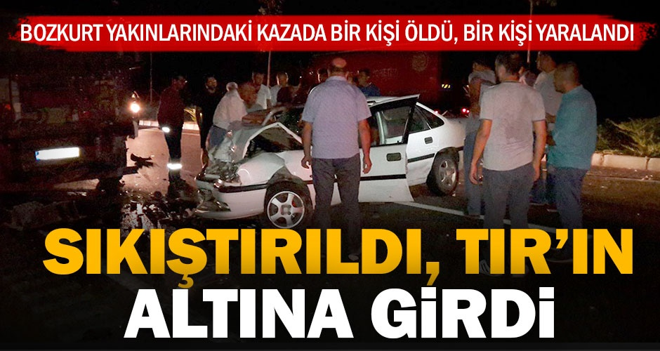 Bozkurttaki kazada bir kişi öldü, bir kişi yaralandı