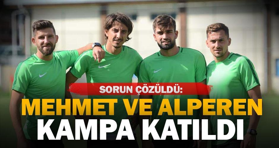 Denizlispor#039;da Mehmet ve Alperen kampa katıldı