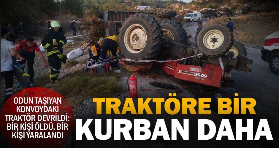 Acıpayam Yeşilyuvadaki traktör kazasında 1 kişi öldü, 1 kişi yaralandı