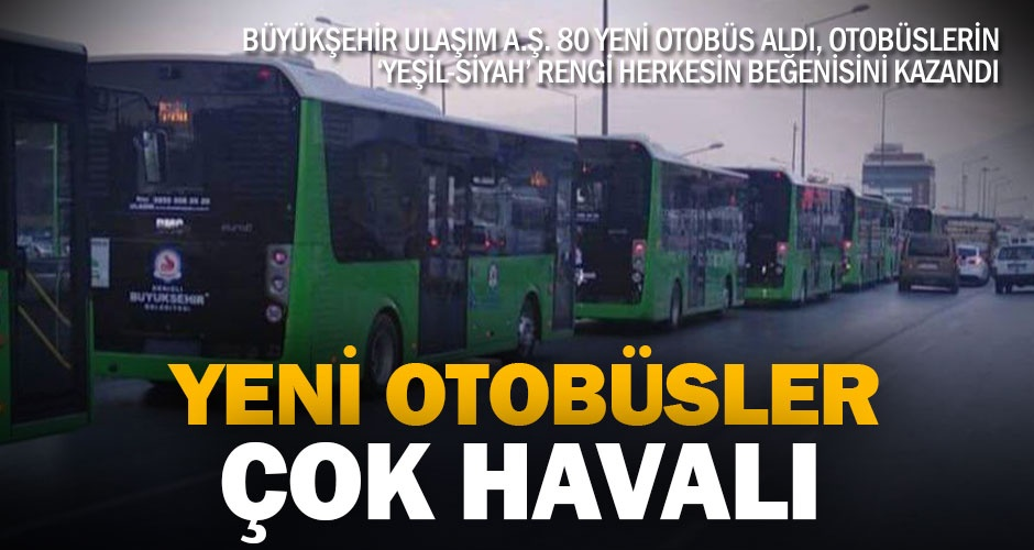 Yeni belediye otobüsleri yeşil-siyah