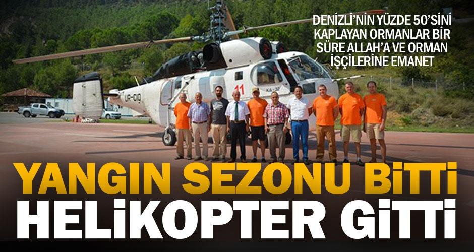 Ukraynadan kiralanan yangın helikopteri sezonu kapattı