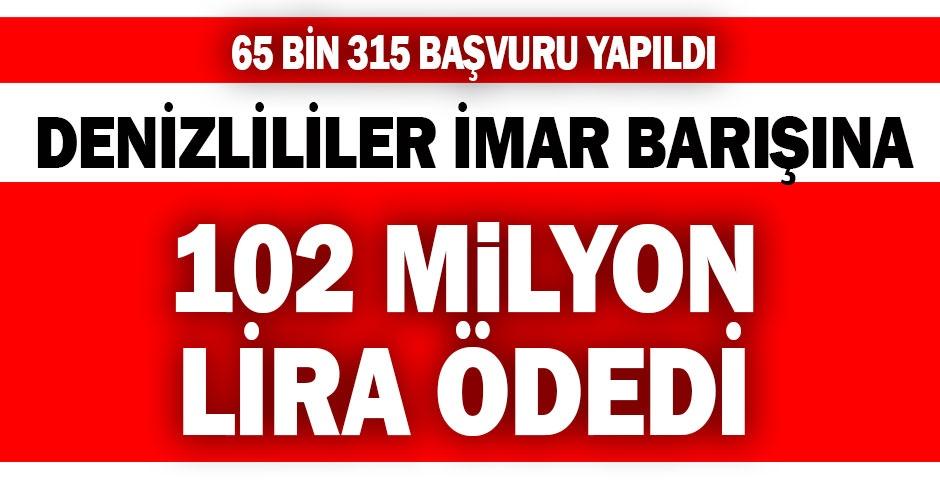 İmar barışının son günlerinde ödenen para 102 milyonu buldu