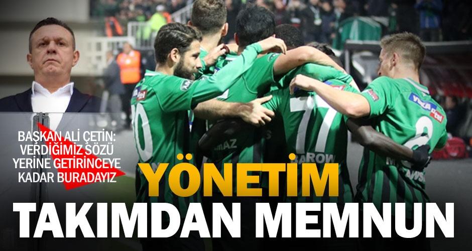 Denizlispor#039;da yönetim, takımın mücadelesinden memnun