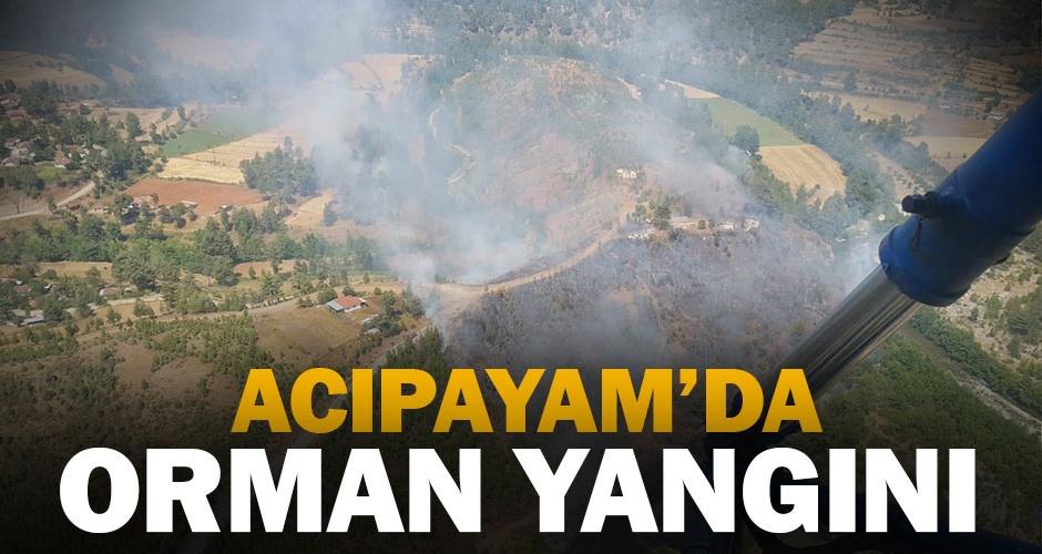 Acıpayam#039;da orman yangını çıktı