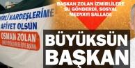 Başkan Zolandan İzmirlilere su jesti