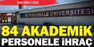 PAÜden 85 akademik personel ihraç edildi