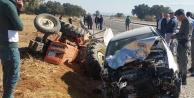 Traktör sürücüsü kurtarılamadı
