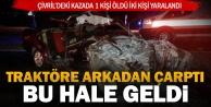 Çivril'deki kazada 1 kişi öldü iki kişi yaralandı