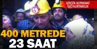 Göçük altında kalan işçi 23 saat sonra kurtarıldı