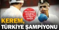 Kerem, karate Türkiye Şampiyonu oldu