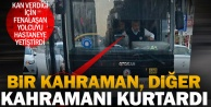 Otobüste fenalaşan yolcuyu hastaneye taşıdı