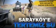 Sarayköy'e 40 kilometre içme suyu hattı