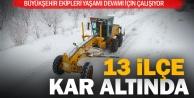 Büyükşehir, 13 ilçede karla mücadele ediyor
