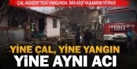 Çal'daki yangında bir kişi öldü
