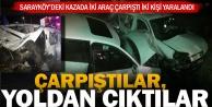 Sarayköy'de iki araç çarpıştı, hurdaya döndü
